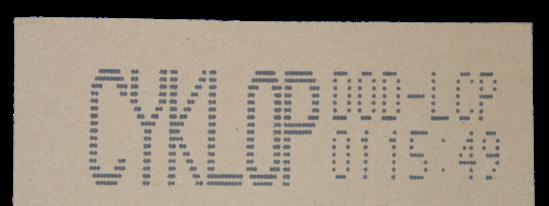Cm Lcp Coding On Cardboard