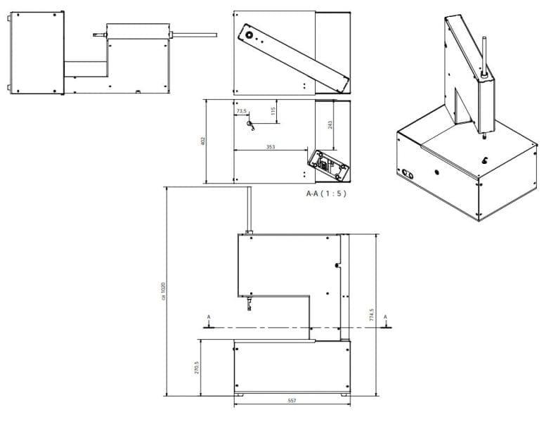 Elastiekbinder AXRO IN2 Tekening