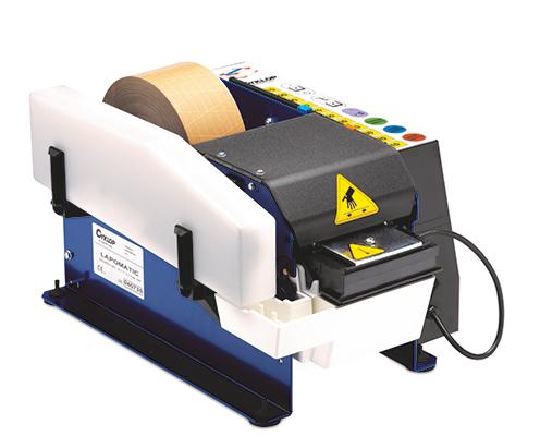 Papierplakband dispenser Lapomatic left